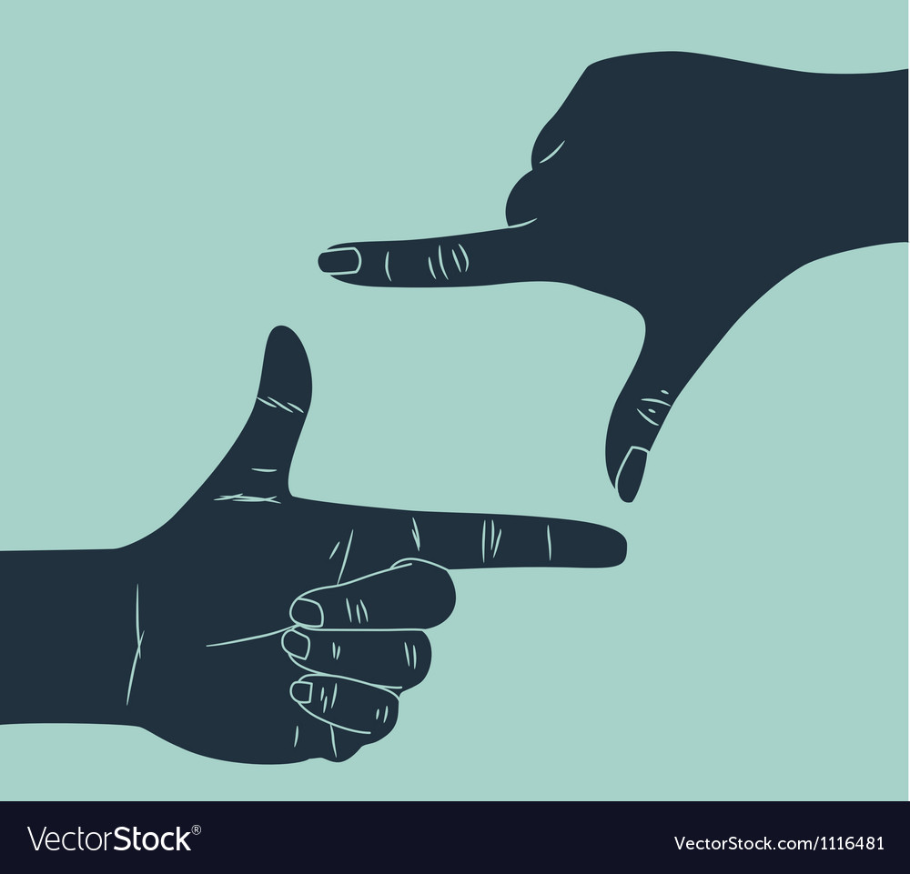 Hand making frame vector