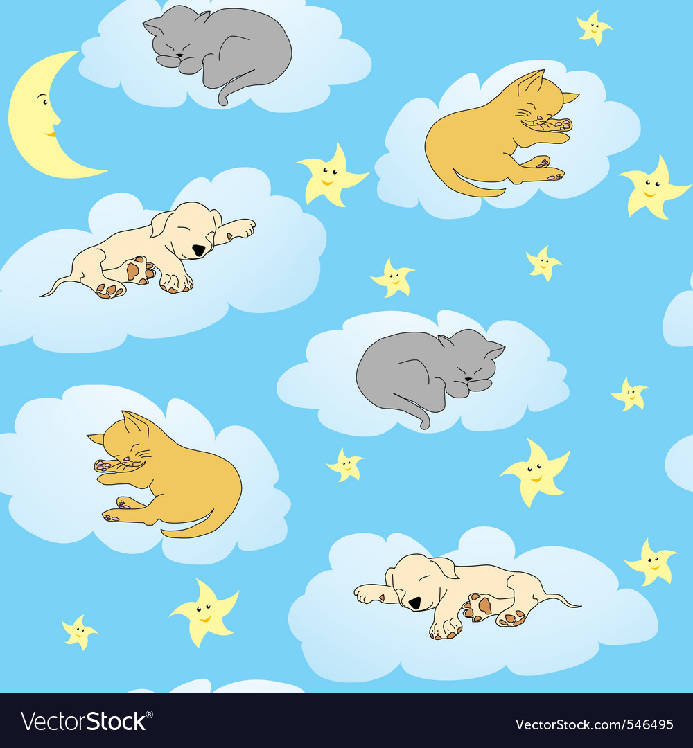 Sleepy animals vector