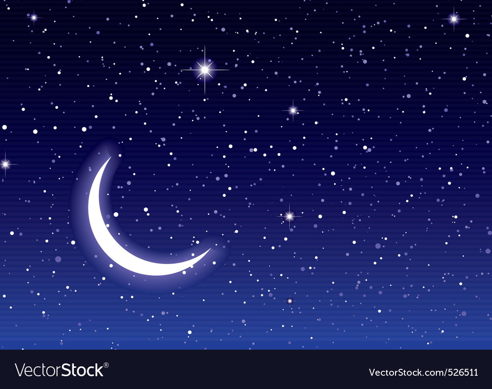 Space moon sky vector