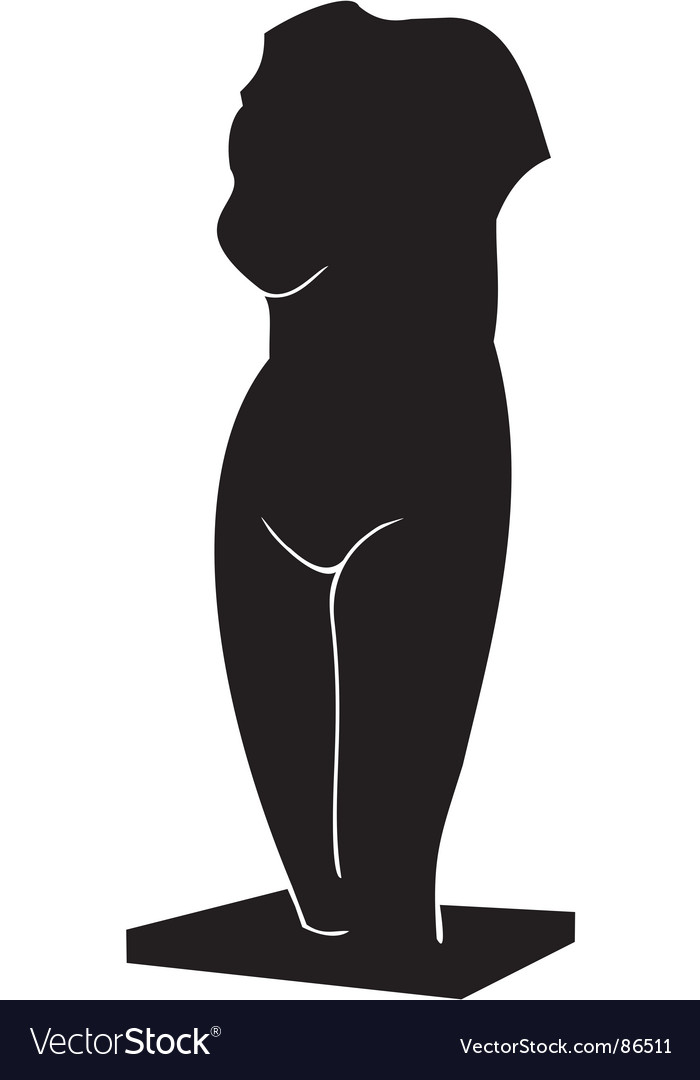Torso of venus a sculpture vector
