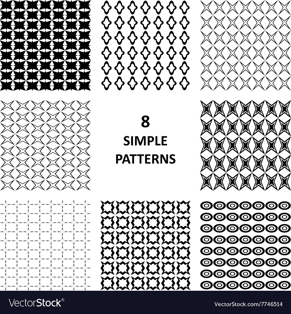 Black abstract pattern collection