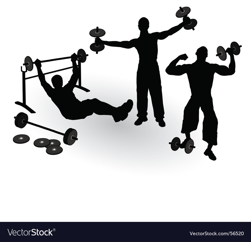 Athletics men vector