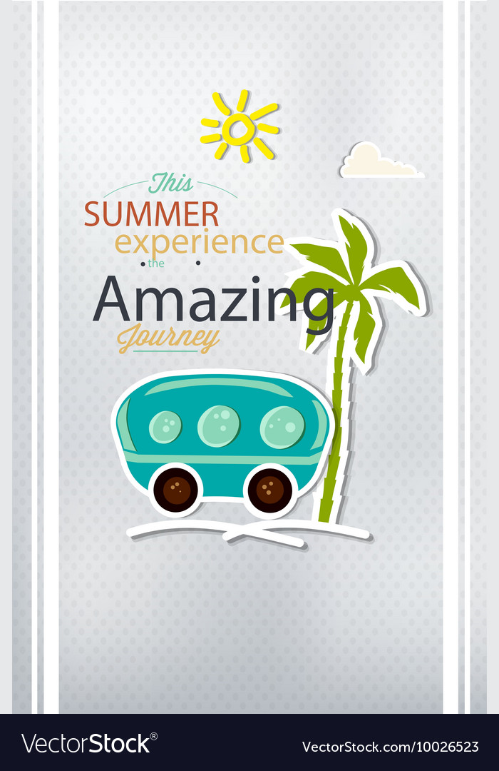 With typography and summer elements