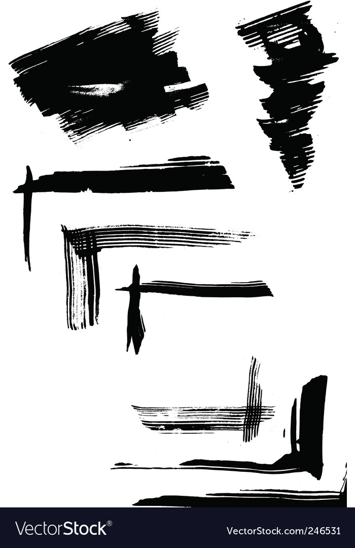 Free set of blots vector
