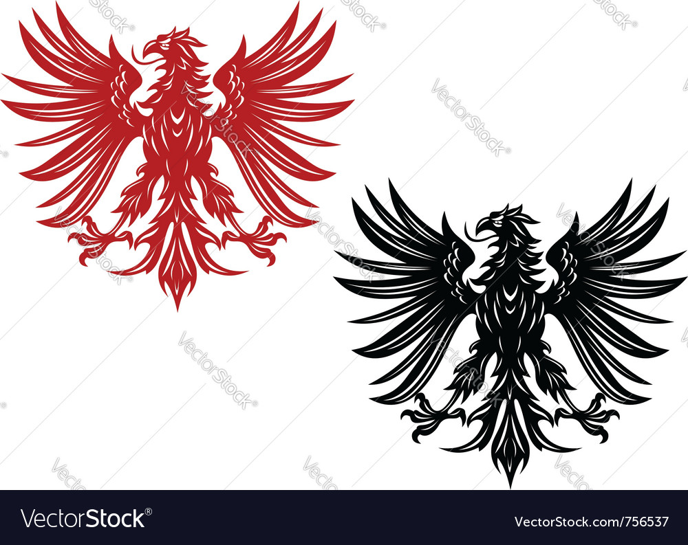 Eagles heraldry vector