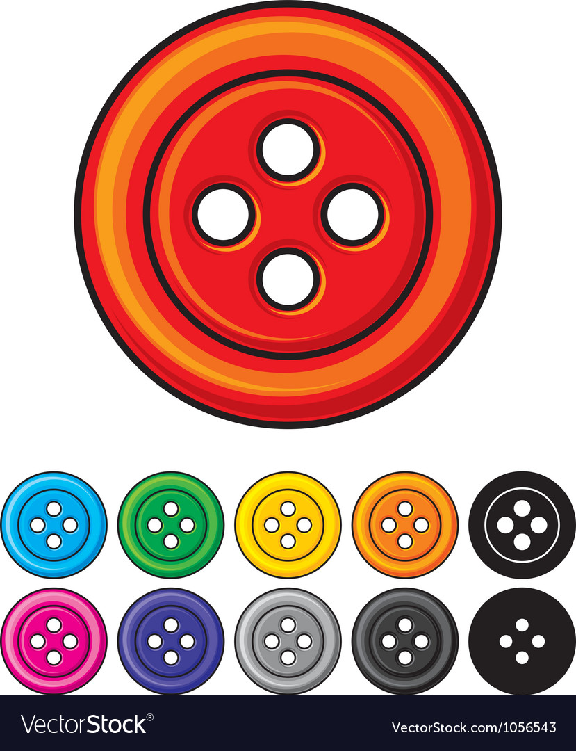 Set of sewing buttons vector