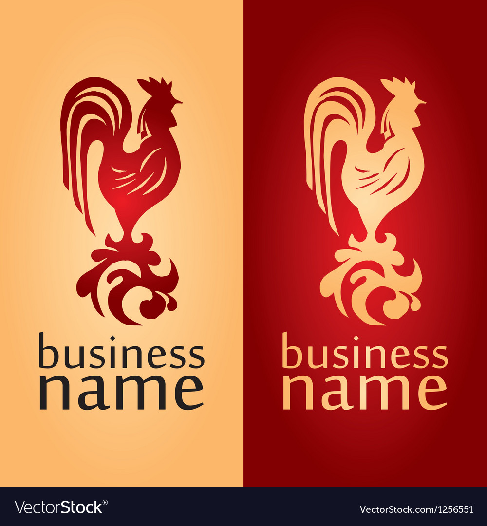 Logo with a cock vector