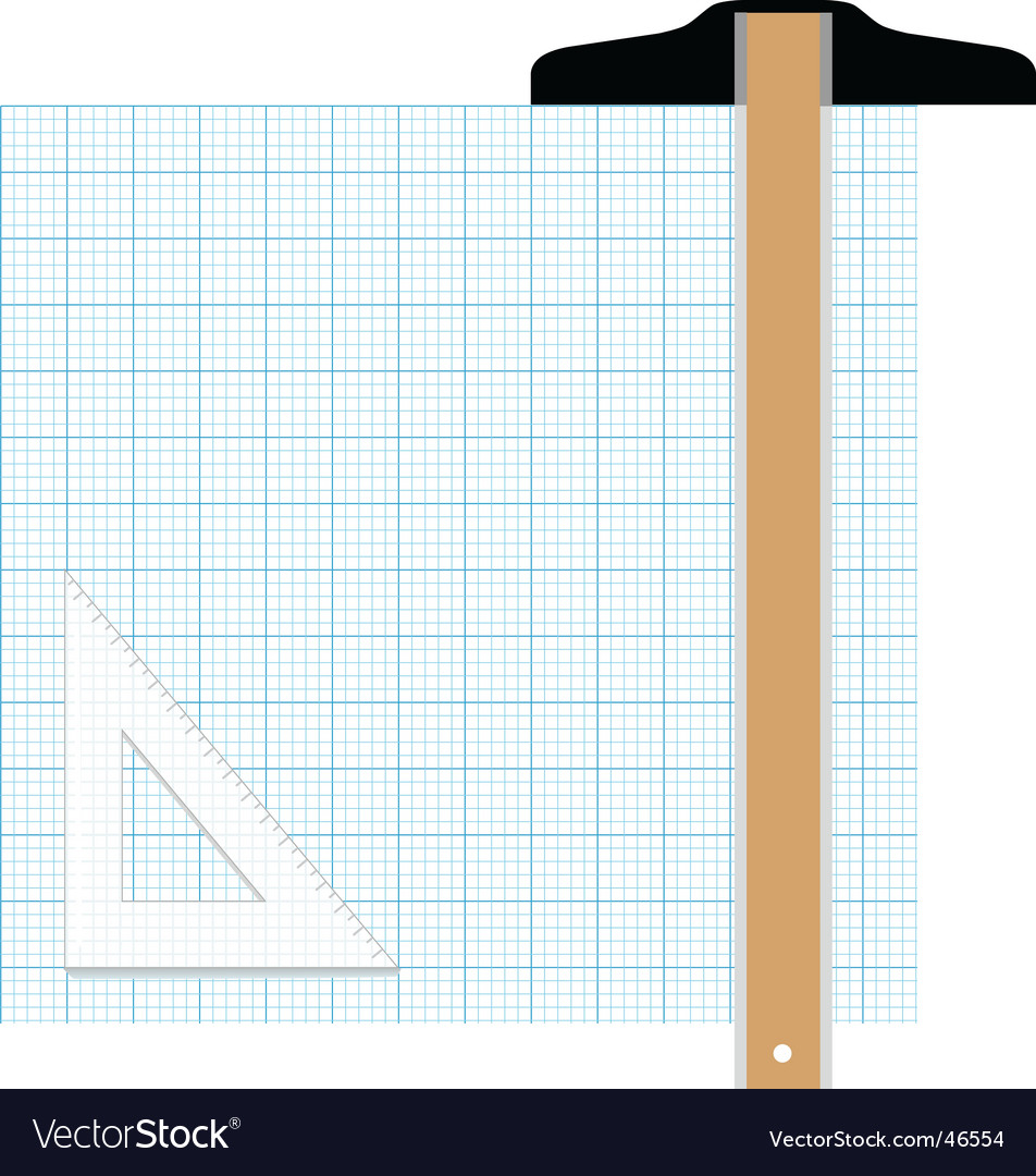 Graph paper drafting tools draw vector