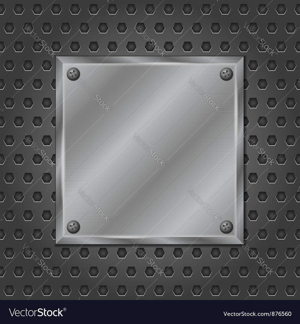 Metal board vector