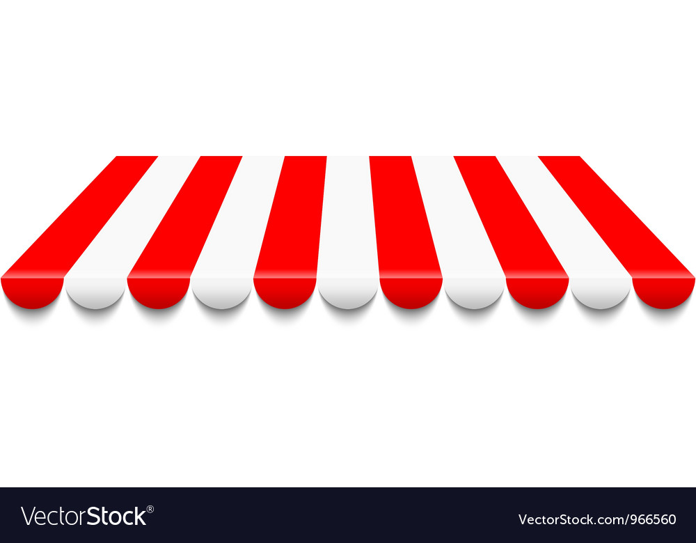 Red awning vector