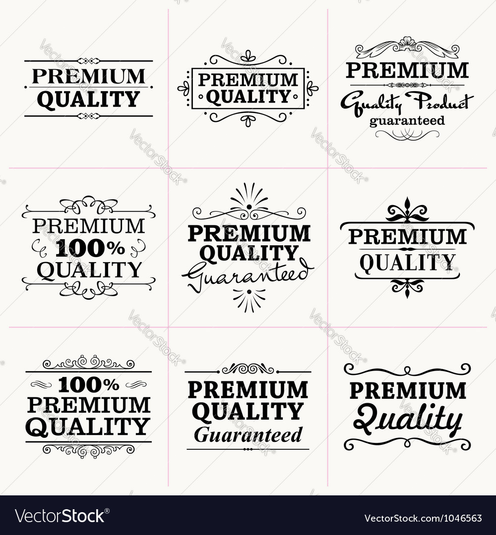 Premium quality collection vector