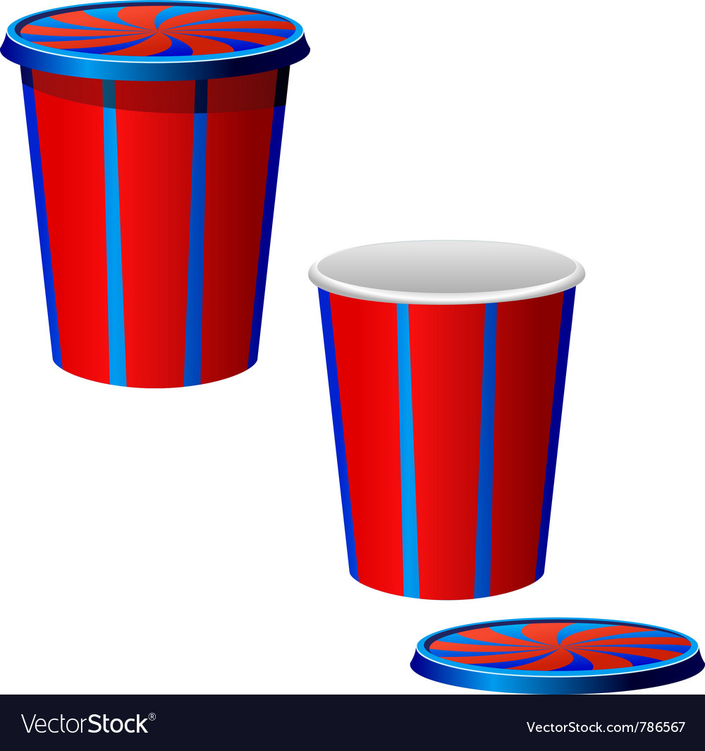 Plastic cups vector