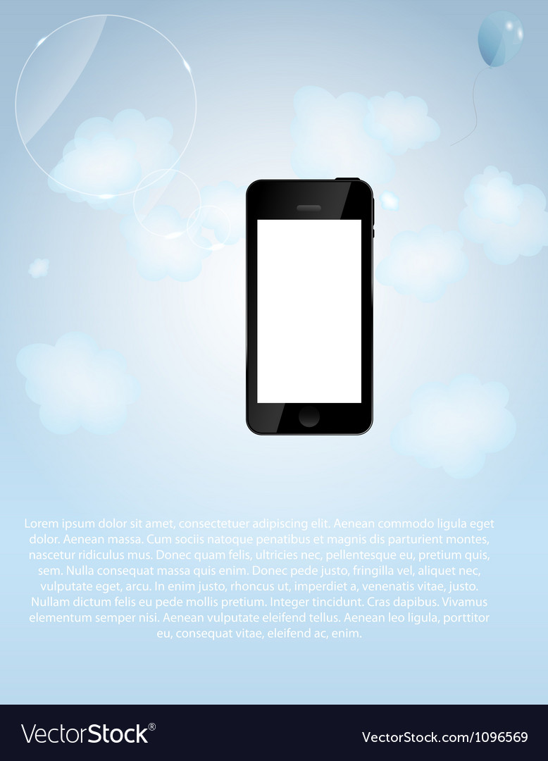Template for smart phone and mobile phone company vector