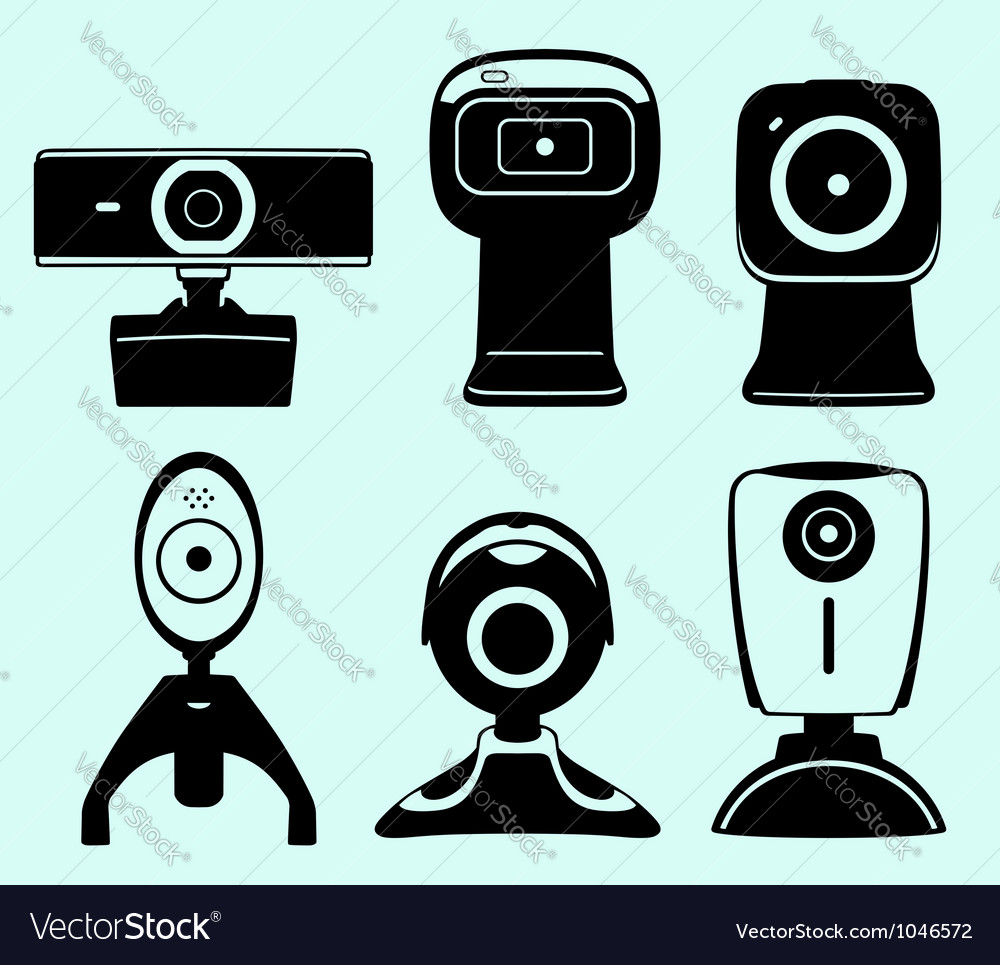 Web camera set vector