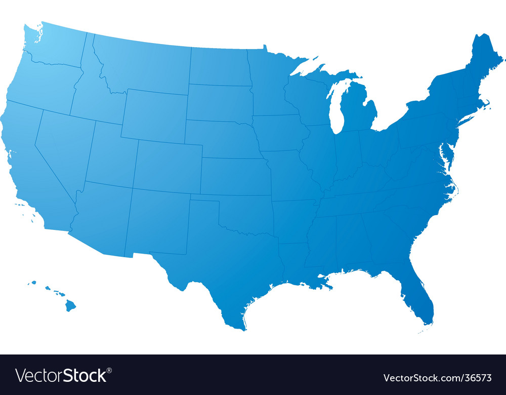 Us map plain vector