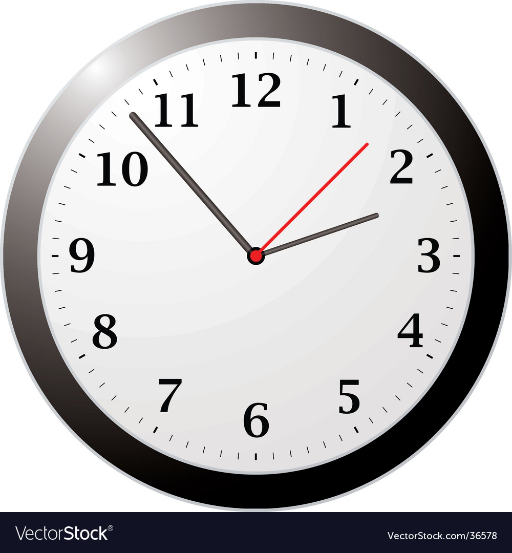 Office clock vector