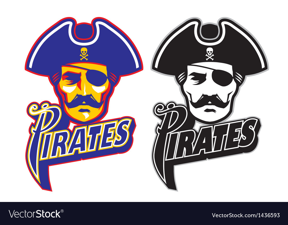 Pirate head mascot vector