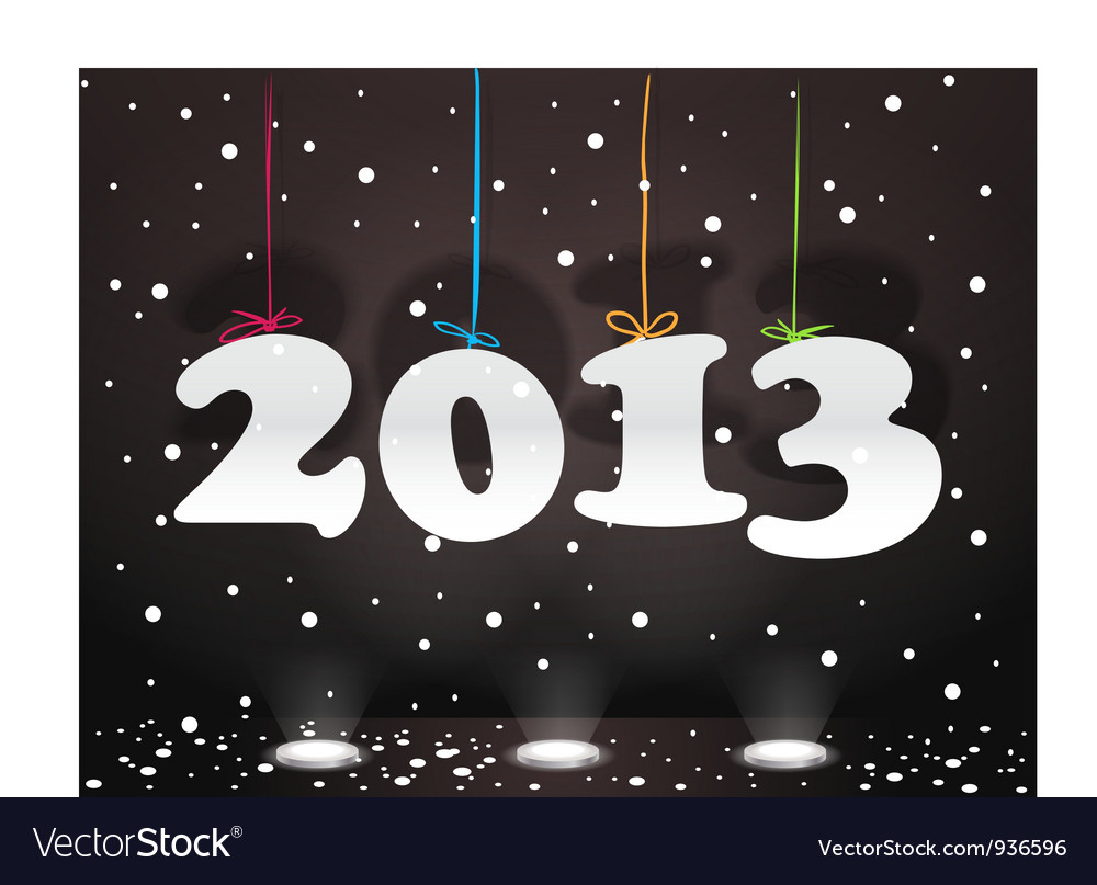 Happy new 2013 vector