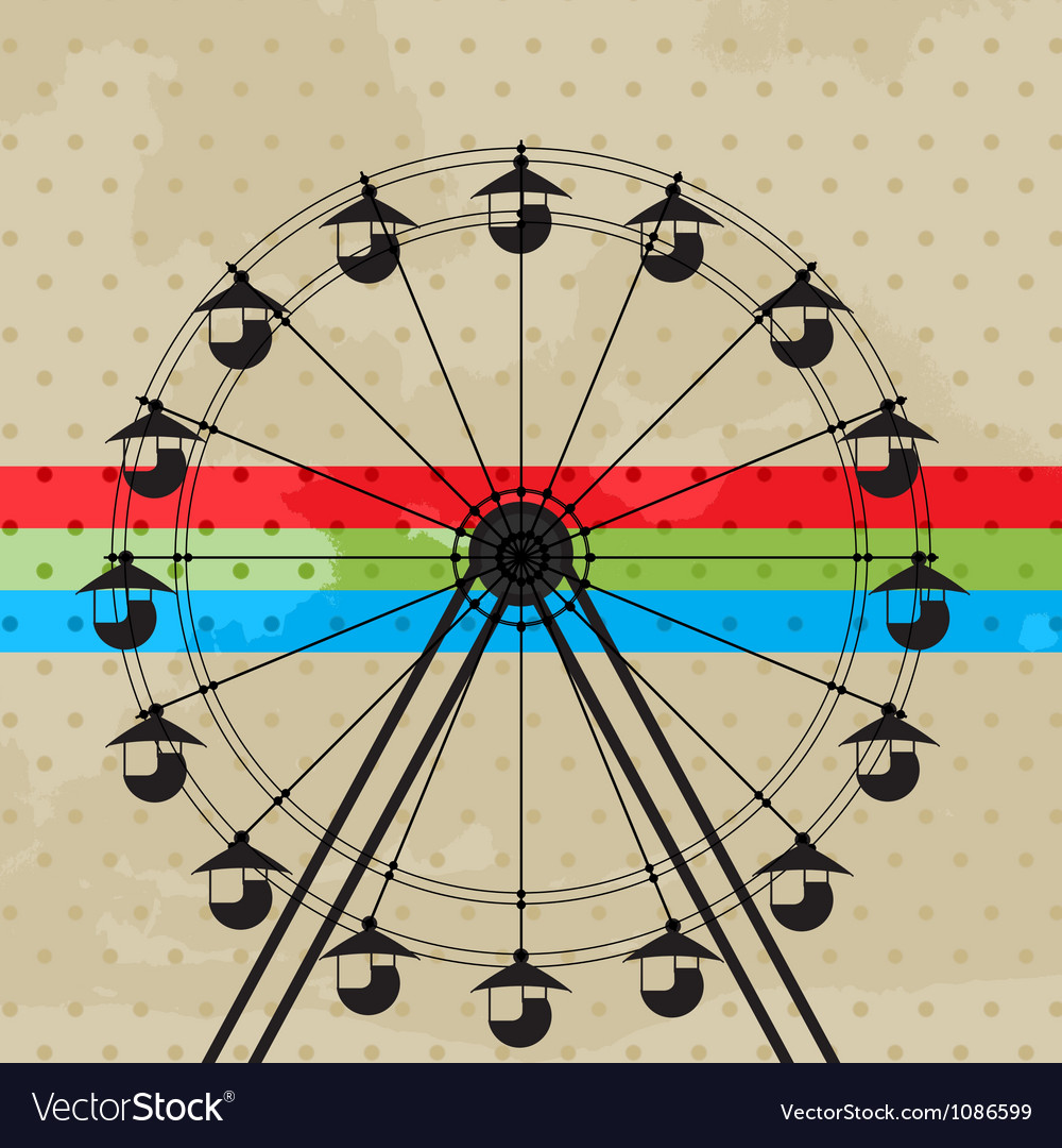 Fun wheel vector