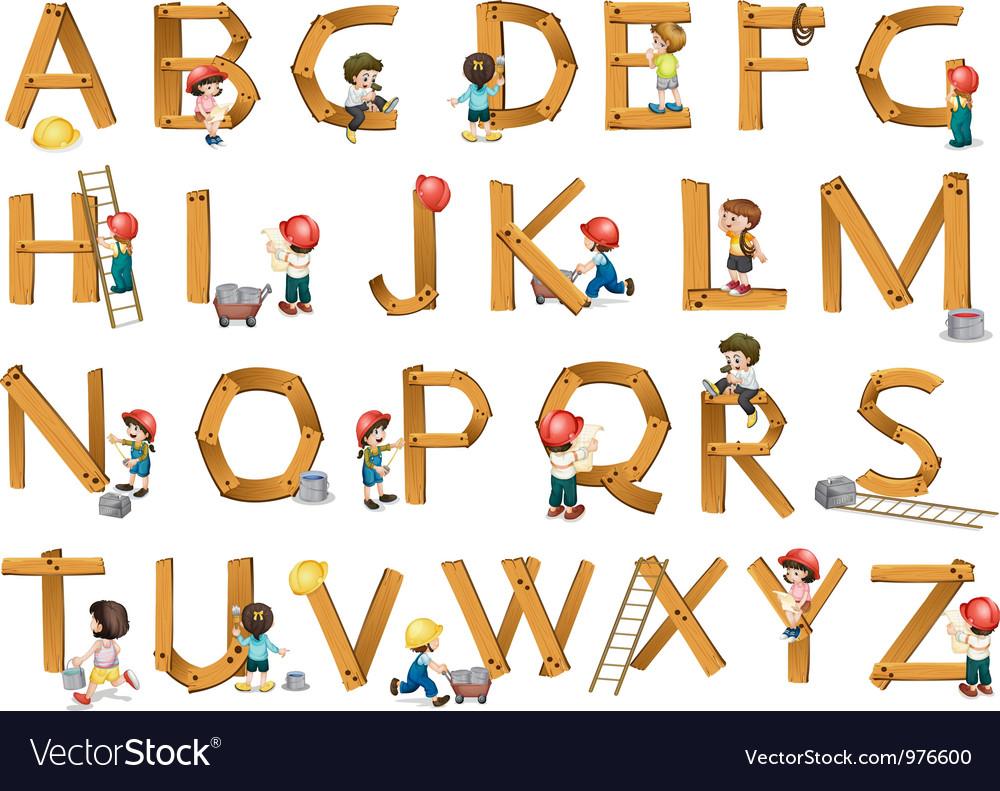 Alphabets vector by iimages - Image #976600 - VectorStock