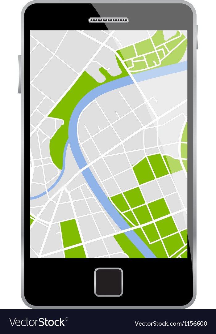 Smartphone map vector