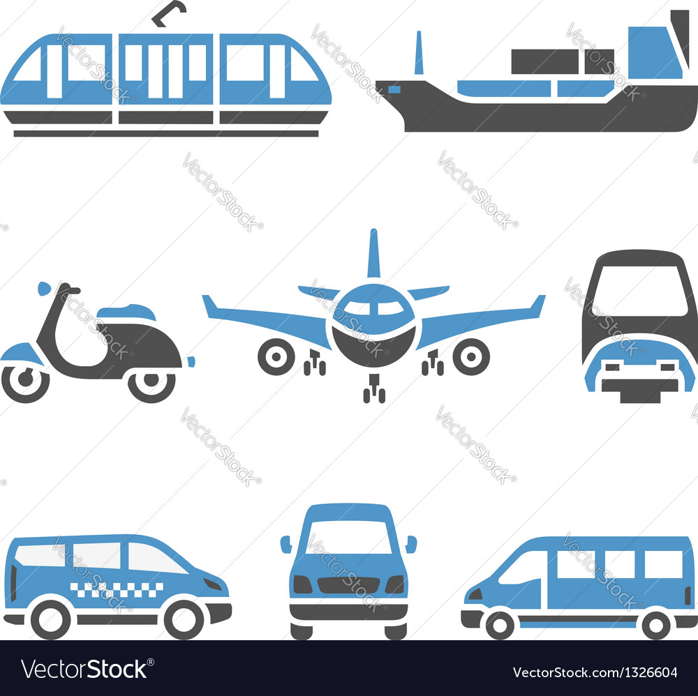 Transport icons  a set of ninth vector