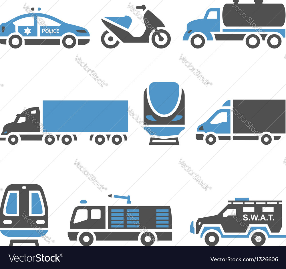 Transport icons  a set of eighth vector