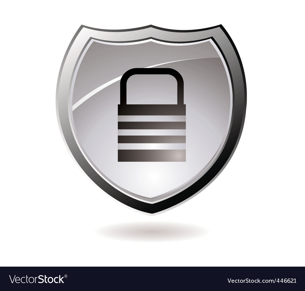 Secure shield vector