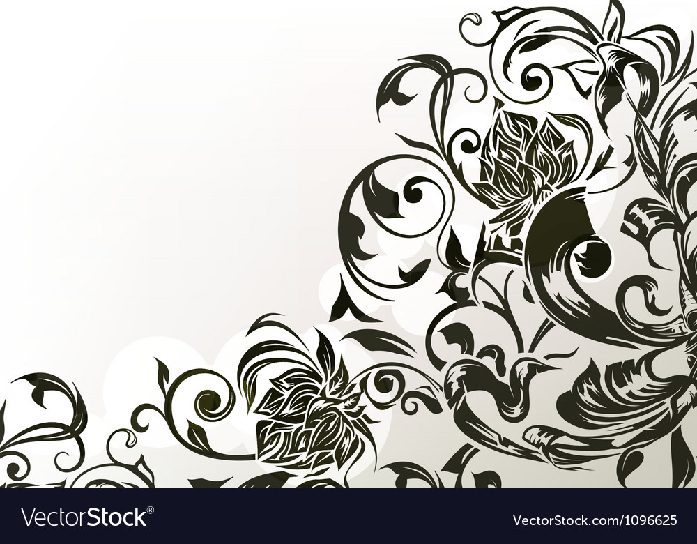Black decor vector