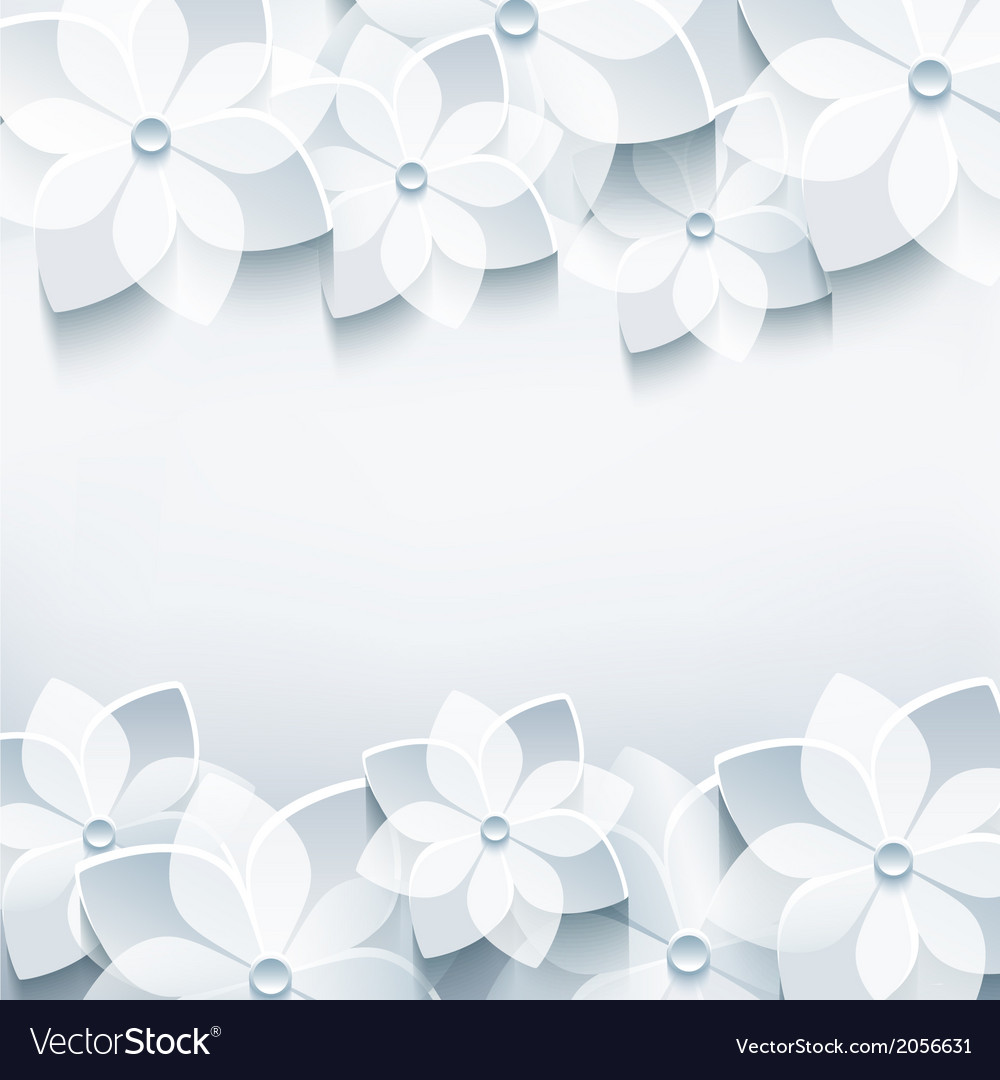 Abstract holiday background with 3d sakura