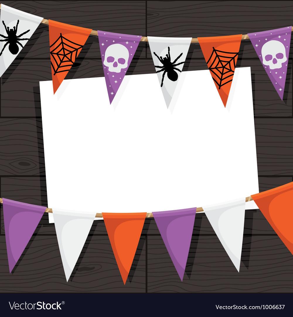 Halloween Bunting trick or treat halloween bunting party supplies party ark Halloween Bunting Decoration Vector