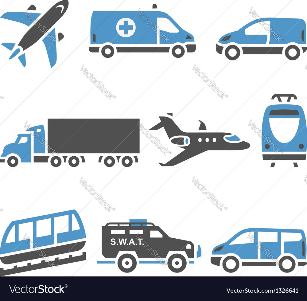 Transport icons  a set of seventh vector