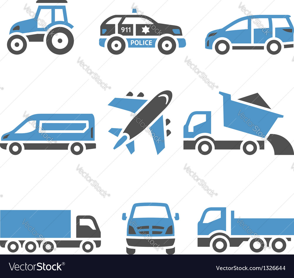 Transport icons  a set of twelfth vector