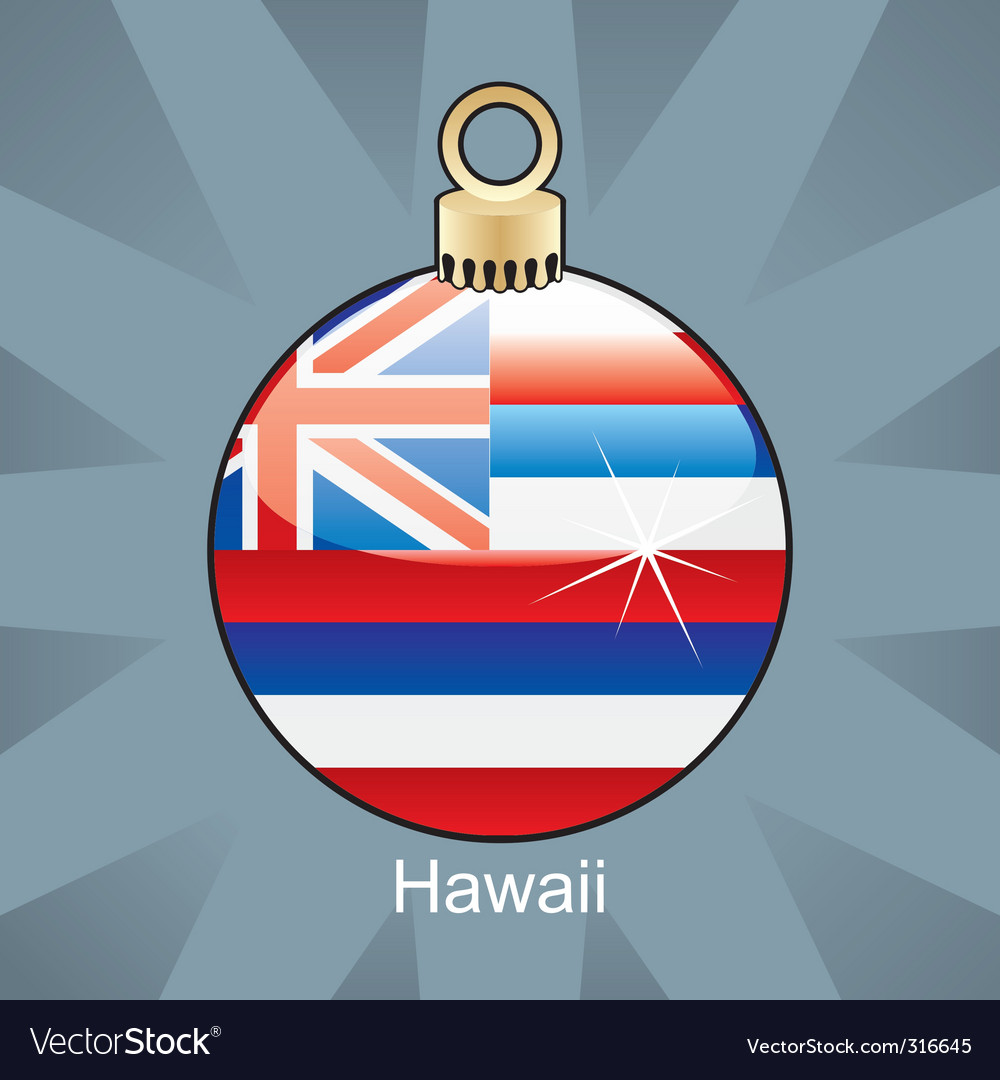 Hawaii flag on bulb vector