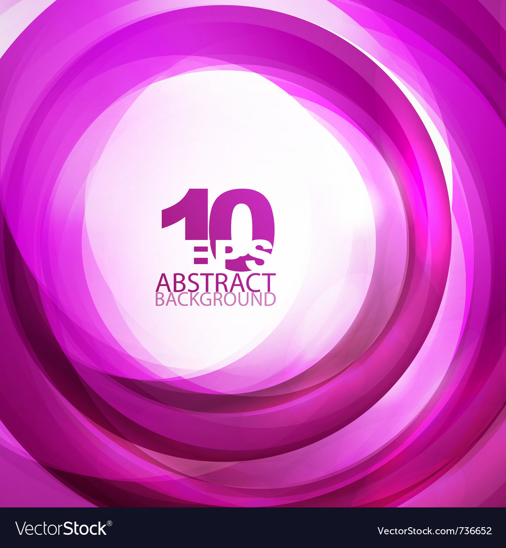Violet abstract swirl background vector