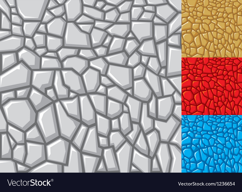 Seamless stone background in four variations vector