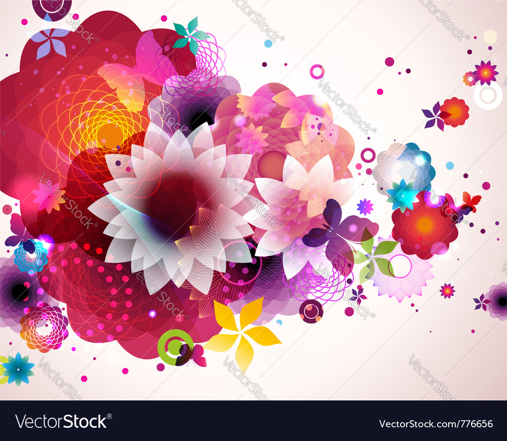 Abstract floral spring background vector