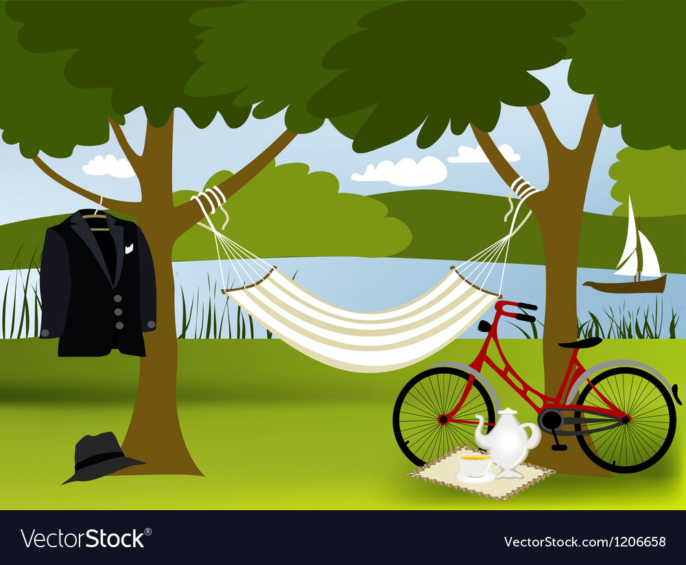 Picnic place vector
