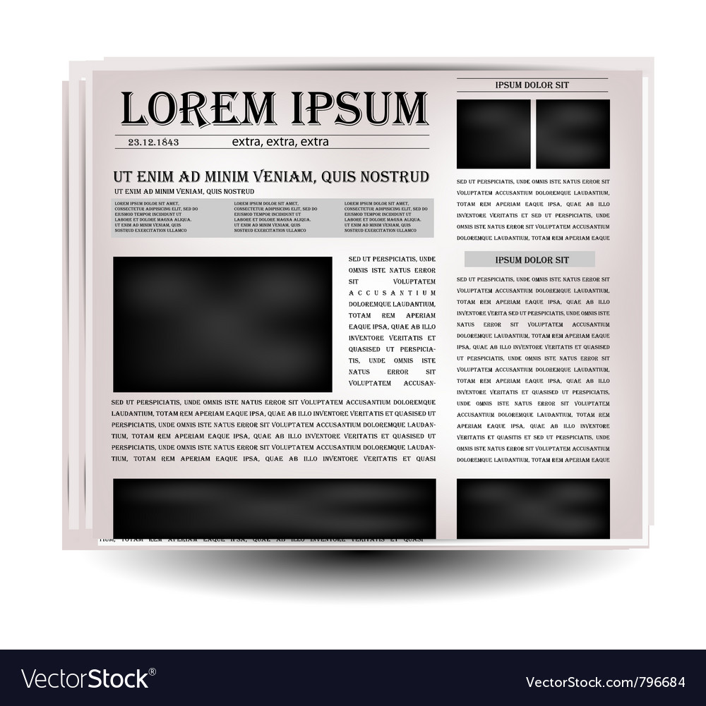 Newspapers and news icon vector