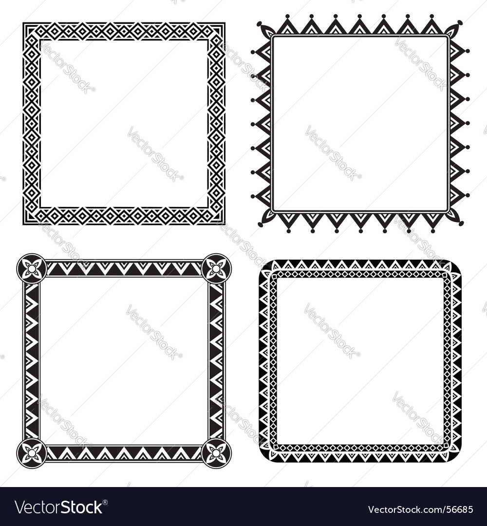 Geometric ornamental frames vector