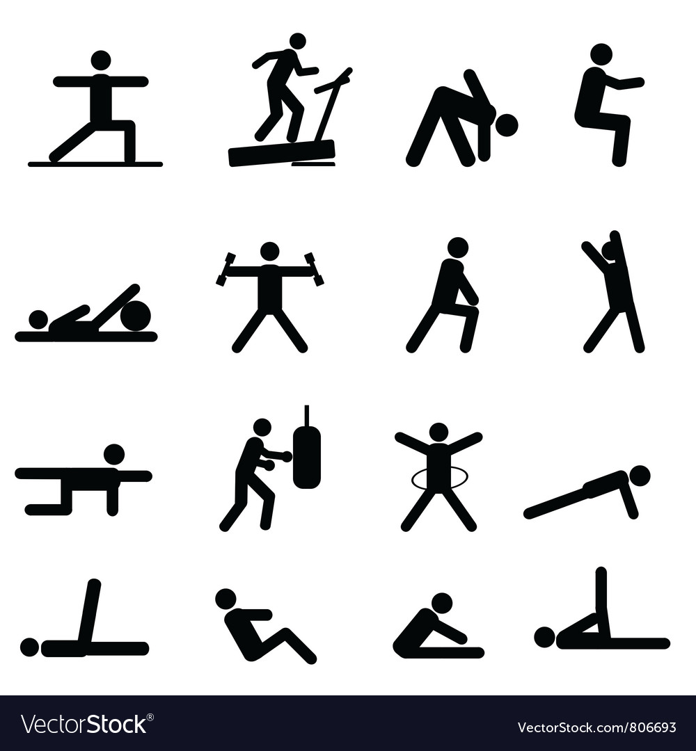 Training pictograms vector