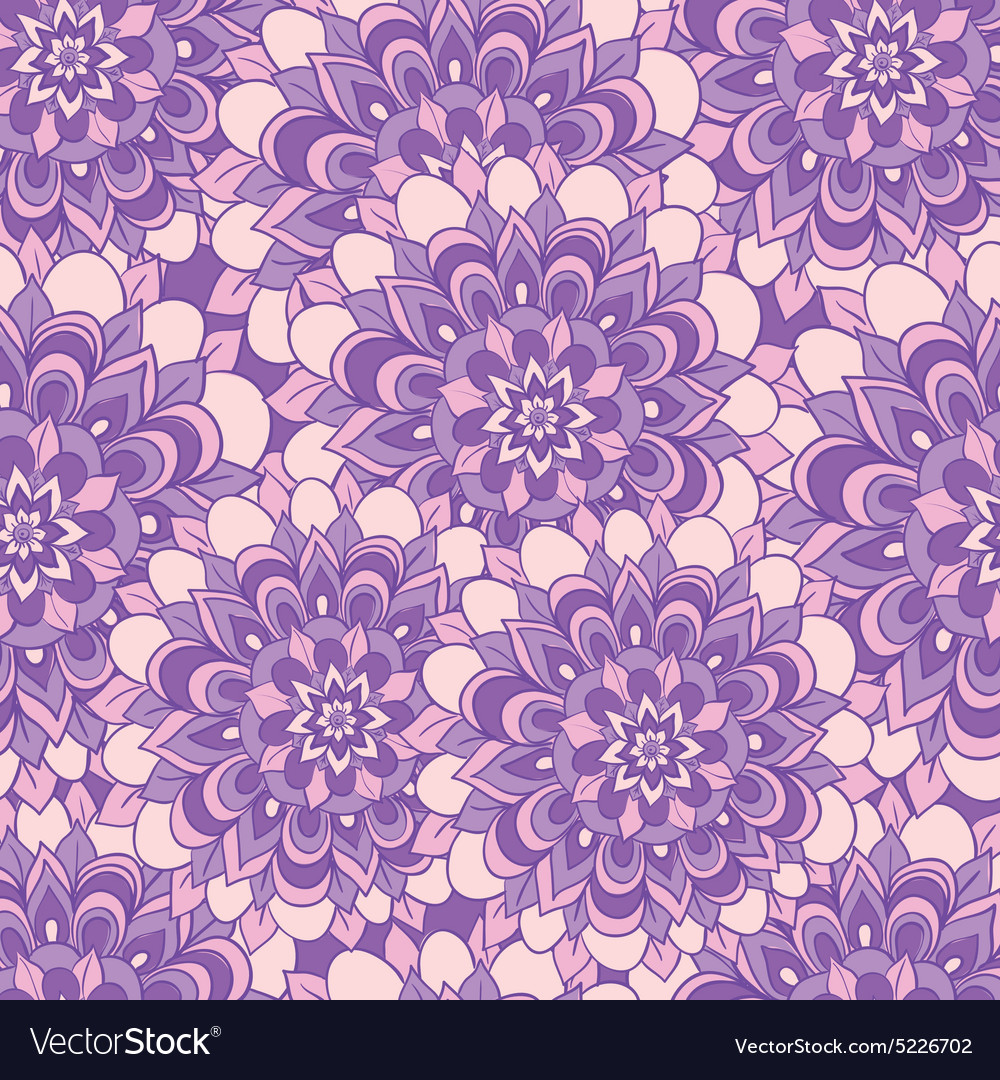 Beautiful pattern with purple flowers