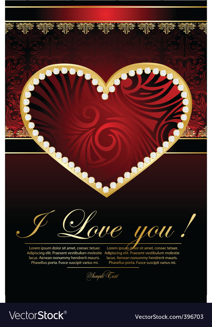 Background for valentines card vector