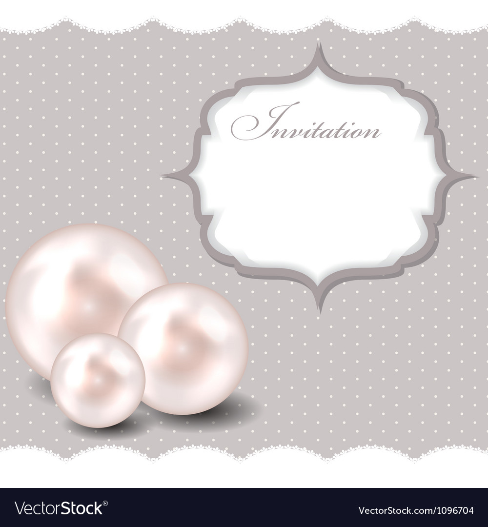 Beauty pearl background vector
