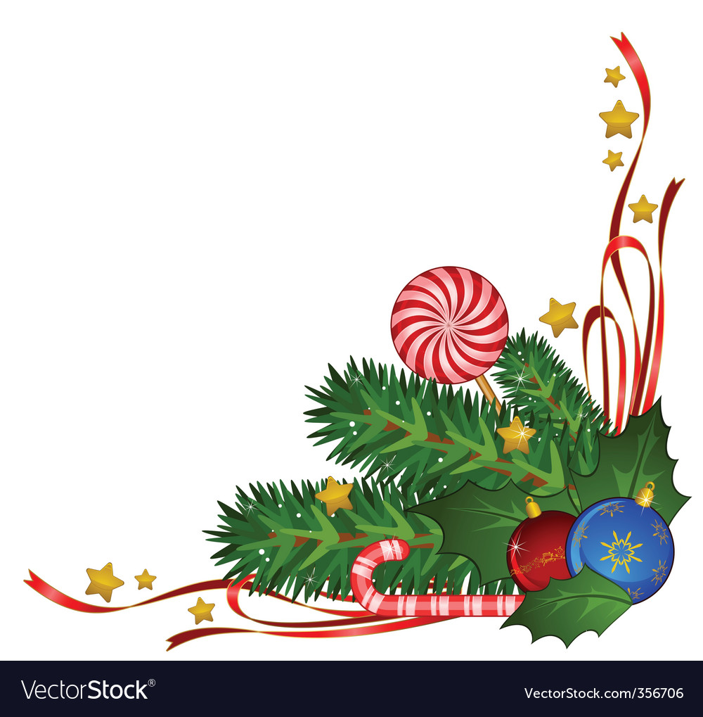 Christmas border vector by Pugovica88 - Image #356706 - VectorStock