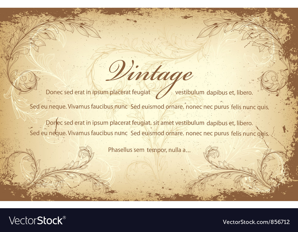 Free vintage invitation vector