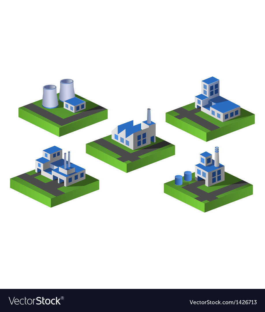 Free isometric factory vector