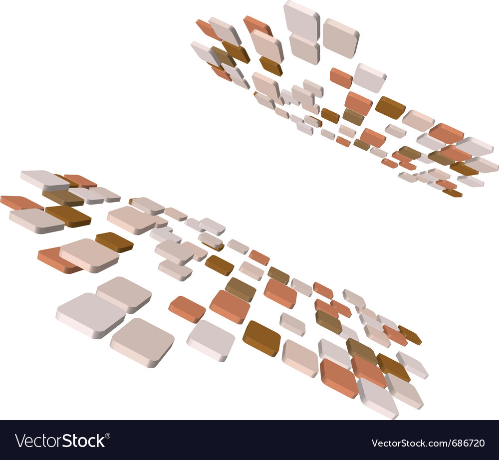 Abstract 3d checked vector