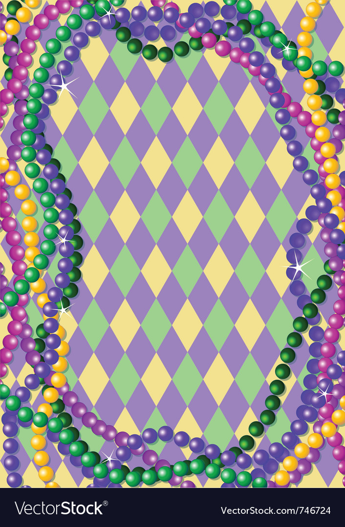 Mardi gras beads vector