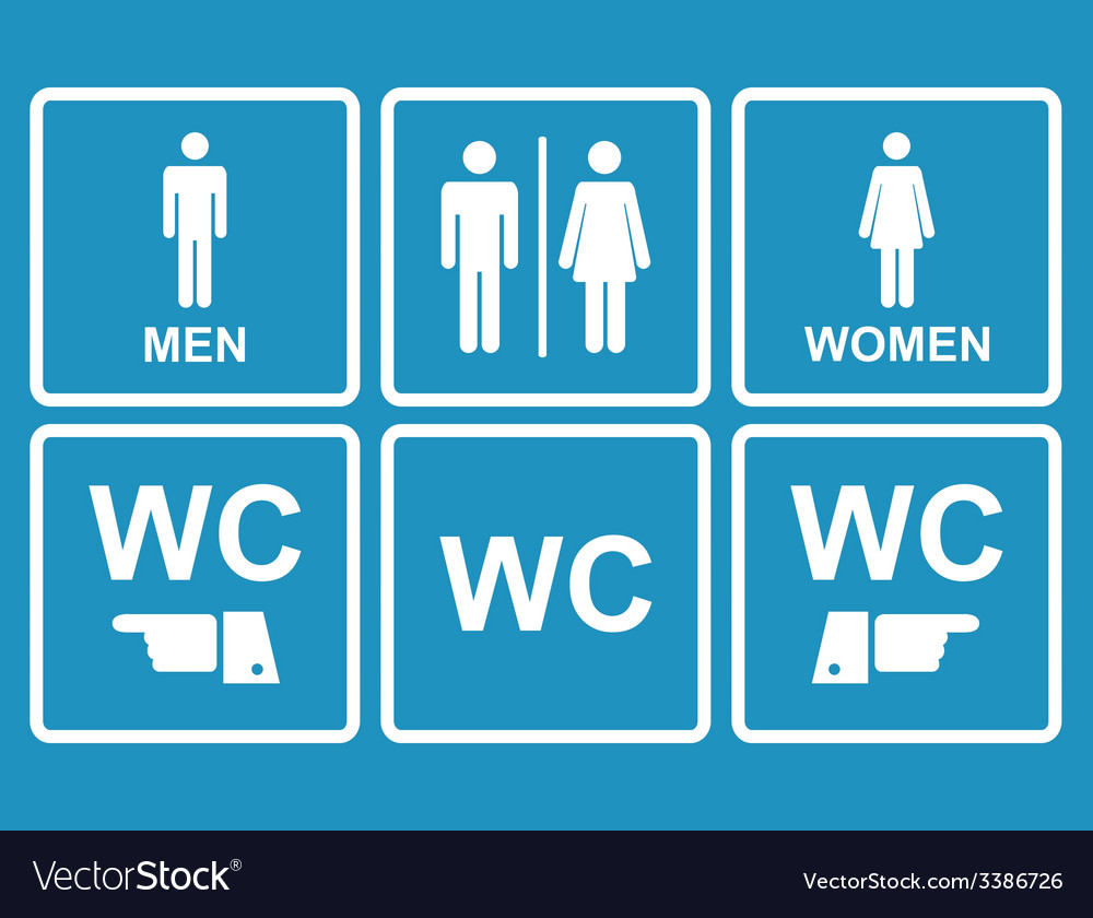 Male and female wc icon denoting toilet restroom vector art download